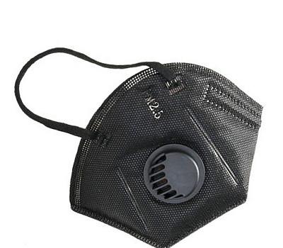 В продаже маска-респиратор с клапаном для защиты органов дыхания (цвет черный).