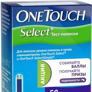 Тест-полоски One Touch Select № 50