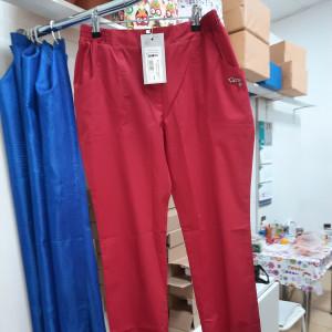 Штаны медицинские красные на резинках